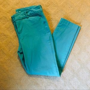 NWOT - Turquoise Stretch Cropped Pants